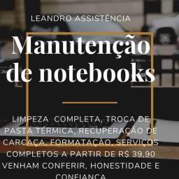 Recuperação de carcaça e manutenção de notebook