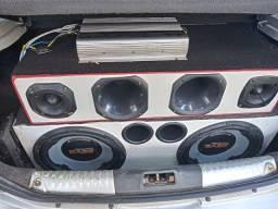 Caixote com Módulo 2 bocas Selênio 12, 2 cornetas e 2 tuiters