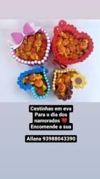 CESTINHA EM EVA de 30 e 40 reais