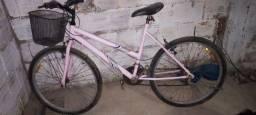 Título do anúncio: Bicicleta rosa aro 26