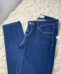 Calça cintura baixa Hollister original
