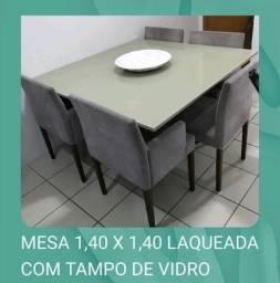 Título do anúncio: Mesa de jantar tampo de vidro