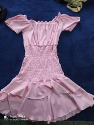 Vendo vestido rosa