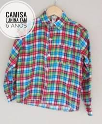 Camisa festa junina Tam 6 anos