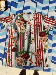 Título do anúncio: Camisa Estampada Floral (P)