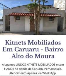 Título do anúncio: Alugo LINDOS QUITINETES MOBILIADOS e sem FIADOR na cidade de Caruaru, Pernambuco.
