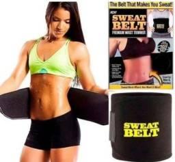 Cinta Modeladora Sweat Belt Fitness Crossfit yoga Treino Academia Ginástica