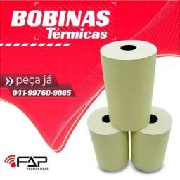 Bobinas Térmica 80x40 Amarela Cupom Fiscal PDV Caixa Com 30 Rolos