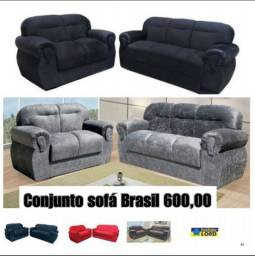 Conjunto sofá Brasil (consultar frete)