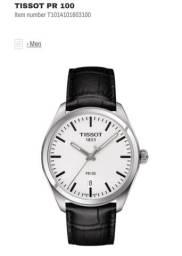Relógio Tissot PR100 Pulseira Couro Preto