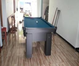 Mesa de Sinuca Cor Preta Tecido Azul Mod. CCHV7480