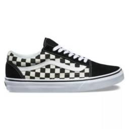 2b8897923d635 Tenis Vans Old Skool Skate - Xadrez Quadriculado 119
