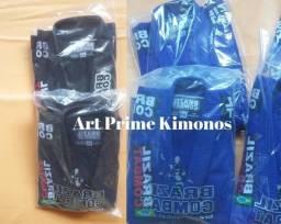 Kimono Novo Trançado Xtra-lite Azul ou Preto Brazil Combat *210,00