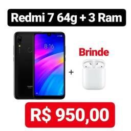 Redmi 7 64g + 4 de ram + brinde
