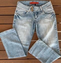 Calça jeans bolso com brilho missbella