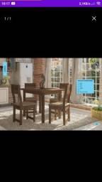 Mesa com 4 cadeiras dallas