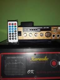 Amplificador e caixa de som