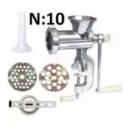 Moedor Carne Manual 3 In 1 N10+ Discos 5/8mm + Funil+ Modelador