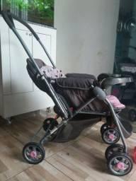 Carrinho de bebe cosco cinsa e rosa