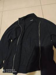 casaco preto com zíper M