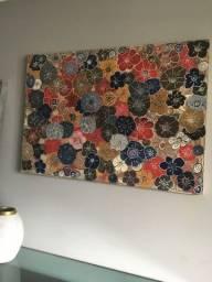 Tela com flores