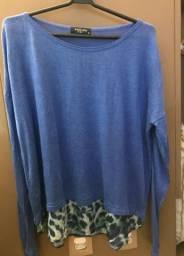 Camisa Anselmi azul tamanho M
