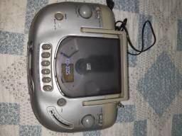 3x1 portátil: CD, toca fitas e rádio AM/FM