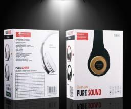 Black novembro Fone de Ouvido Headset Pure Sound 930S-Radio FM-Bluetooth