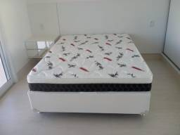 ::Conjunto Cama Box colchao falcom Espuma Selada Casal (138x88) A Pronta Entrega;;