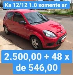 Ka 2012 1.0 Somente AR 2.500,00 mais 48x de 546,00