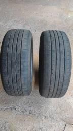 2 pneus 205/55/16 (Bridgestone e Ling Long)