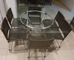 Jogo de cadeiras e mesa Gourmet