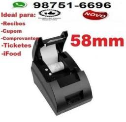 Impressora termica 58mm, para comandas notas e recibos-Entregamos