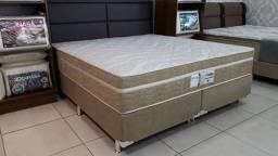 ::Conjunto Cama Box Colchao Evolution Queen Size Probel (158x198) A PRonta Entrega;;