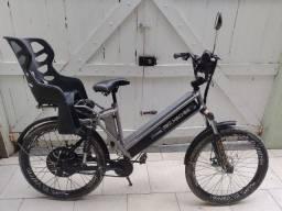 Bicicleta Elétrica Machine Motors New Premium 800W 48V Prateada