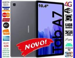 """Galaxy Tab A7 Tela 10.4"""", 64GB Octa Core, Wi-Fi + 4G, GPS, Novo, Caixa, Gar, NF, Troco!"""