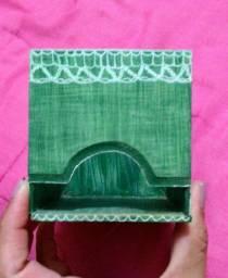 Porta Chá Pintado a Mão