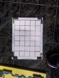 Faca corte e vinco A4 para quadradinhos 4cmx4cm