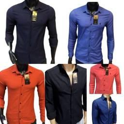 Camisa Social Masculina 4% de Elastano