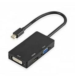 Adaptador mini displayport para HDMI VGA DVI