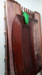 Título do anúncio: Cama de madeira e colchão de mola