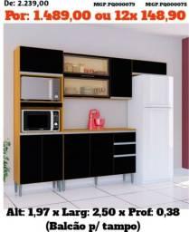 Cozinha Compactada com Balcão-Armario de Cozinha- Liquida em MS