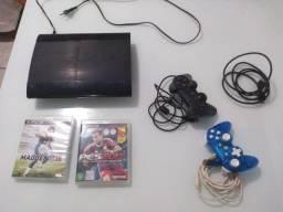 PS3 super slim usado, em perfeitas condições