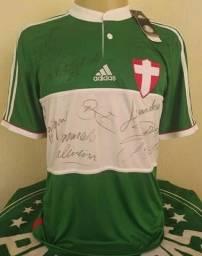 Camisa Palmeiras Savoia nova na etiqueta autografada.