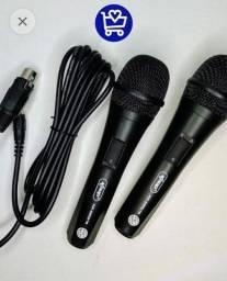 microfone com fio - 2 microfones, faço entrega