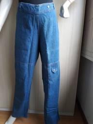Título do anúncio: Calça  gestante jeans perna larga
