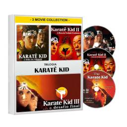 Dvd Karatê Kid Trilogia Filme 1 2 3 - 3 Dvd