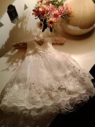Vestido infantil de batismo ou casamento