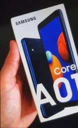 Smartphone Samsung Galaxy A01 Core 32GB 4G Wi-Fi Tela 5.3'' -Novo na Caixa
