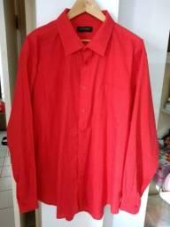 Camisa vermelha masculina(Cia do terno)